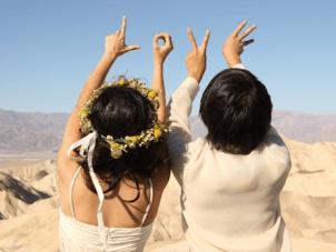 Unique Bohemian Death Valley Campervan Wedding