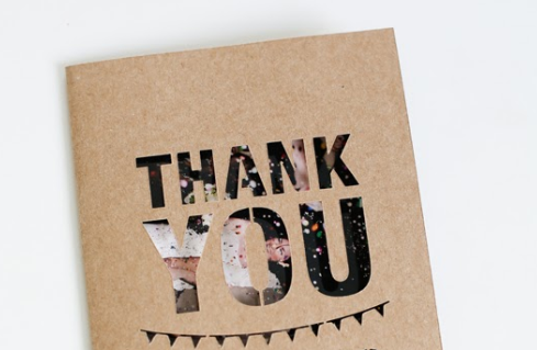 unique wedding thank you card idea