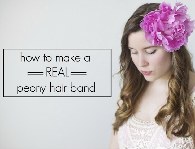 how to make a simple hairstyle at home : Floral DIY: How To Make A Gorgeous Real Flower Headband