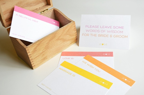 advice with these guest book advice cards by marry this