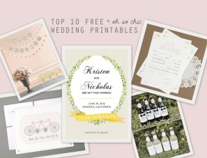 Top 10 Free (& Oh So Chic) Wedding Printables