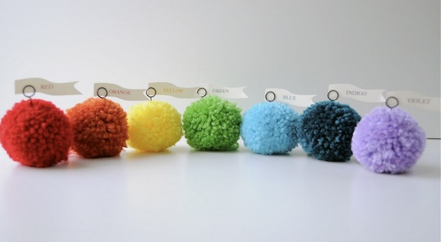 yarn pom pom tutorials for weddings and parties