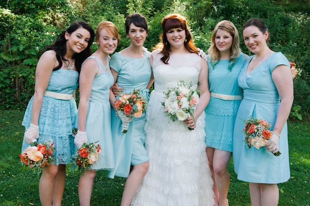 Aqua and Orange Modern Vintage Wedding | Jessica Ames (6)