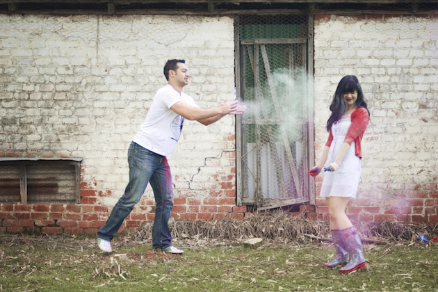 Colourful Holi Powder Engagement Shoot by C J Williams Photography (1)
