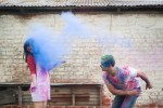 Colourful Holi Powder Engagement Shoot by C J Williams Photography (11)