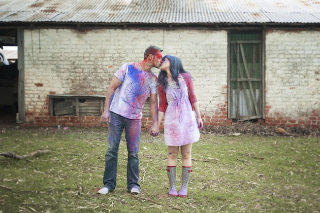 Colourful Holi Powder Engagement Shoot by C J Williams Photography (15)