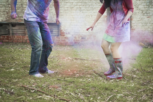Colourful Holi Powder Engagement Shoot by C J Williams Photography (16)