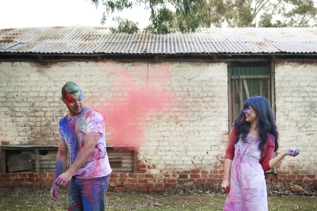 Colourful Holi Powder Engagement Shoot by C J Williams Photography (17)