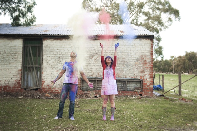 Colourful Holi Powder Engagement Shoot by C J Williams Photography (18)