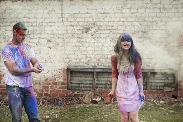 Colourful Holi Powder Engagement Shoot by C J Williams Photography (19)