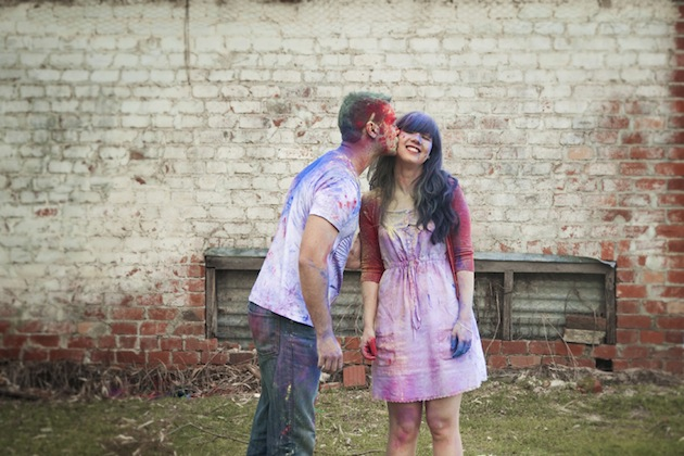 Colourful Holi Powder Engagement Shoot by C J Williams Photography (20)