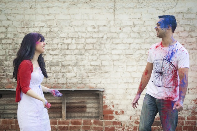 Colourful Holi Powder Engagement Shoot by C J Williams Photography (3)