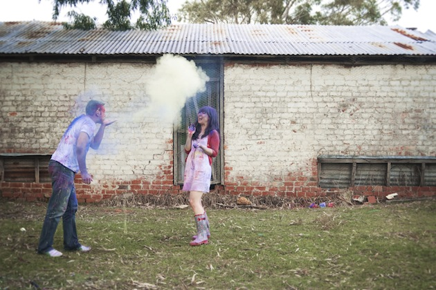Colourful Holi Powder Engagement Shoot by C J Williams Photography (23)