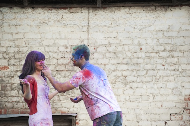 Colourful Holi Powder Engagement Shoot by C J Williams Photography (24)