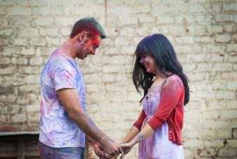 An Explosion Of Colour Holi Powder Anniversary Shoot