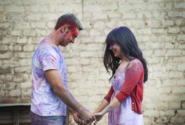 Colourful Holi Powder Engagement Shoot by C J Williams Photography (31)