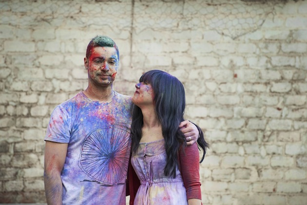 Colourful Holi Powder Engagement Shoot by C J Williams Photography (32)