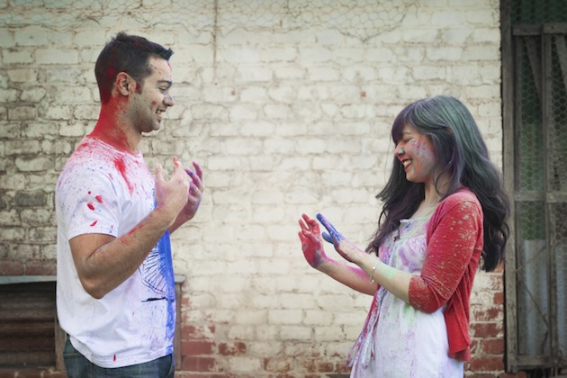 Colourful Holi Powder Engagement Shoot by C J Williams Photography (6)