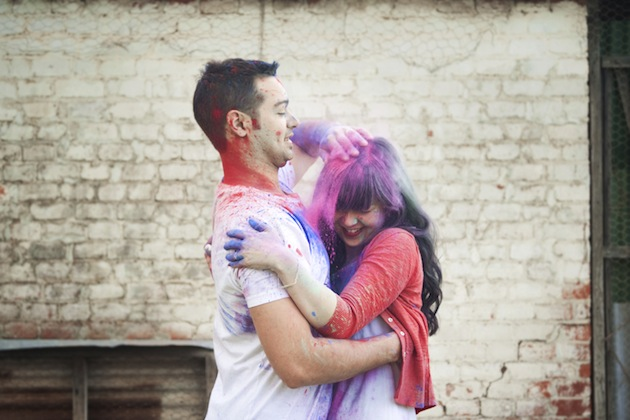 Colourful Holi Powder Engagement Shoot by C J Williams Photography (8)