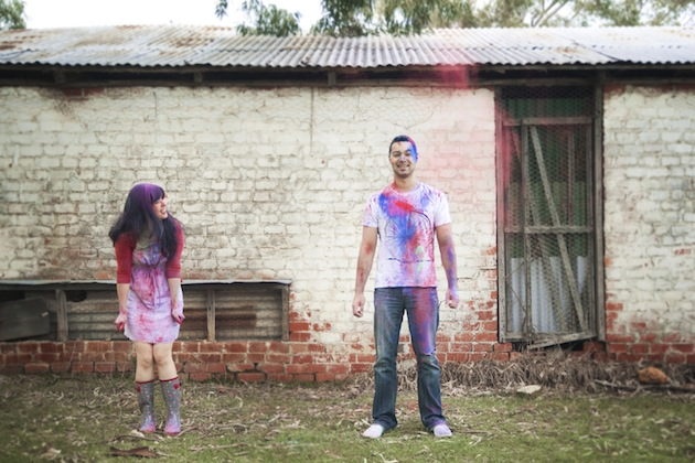 Colourful Holi Powder Engagement Shoot by C J Williams Photography (9)
