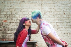 Colourful Holi Powder Engagement Shoot by C J Williams Photography (10)