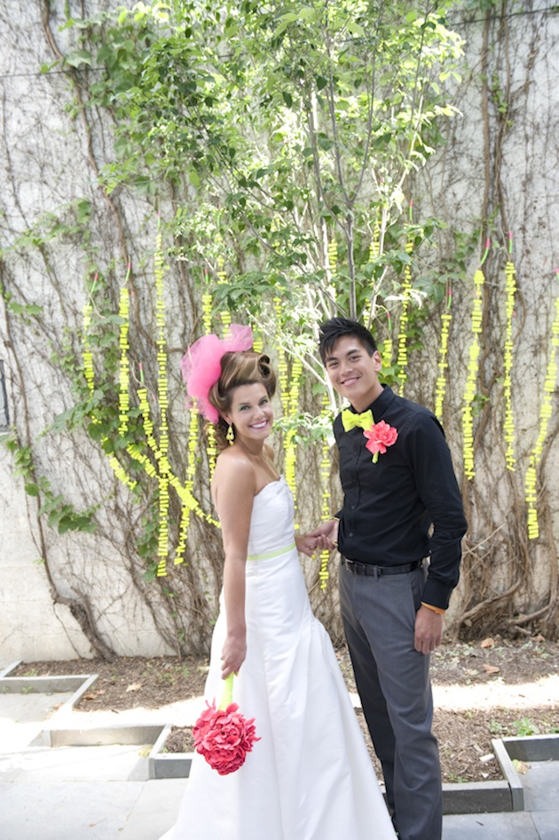 fluor wedding, neon wedding