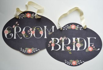 Chalkboard Inspired Wedding Signs Without The Chalk