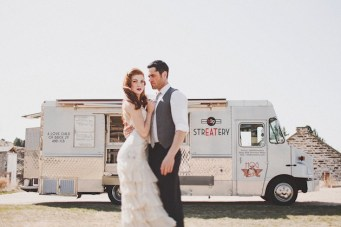 Vintage Glam Bohemian Food Truck Wedding Inspiration
