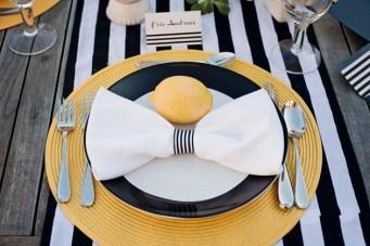 Modern Chic Wedding Ideas: Black & White Stripes + Pops Of Yellow