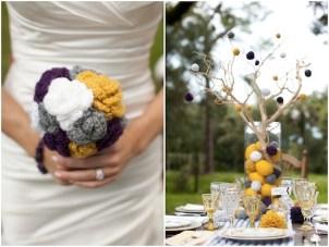 Whimsical Blackberries, Lemonade & Pom Poms Wedding Shoot