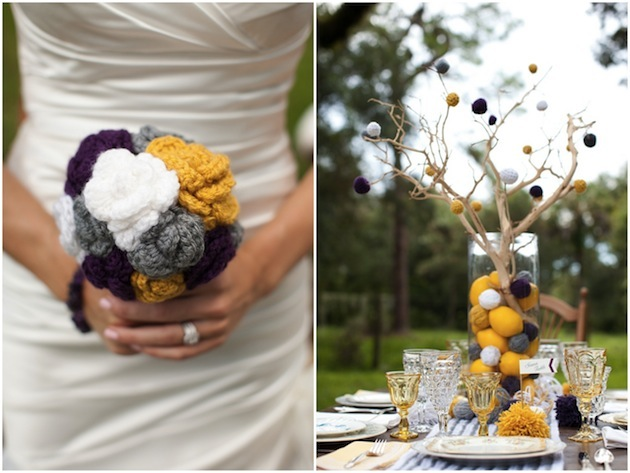 creative yarn pom pom wedding ideas (7)