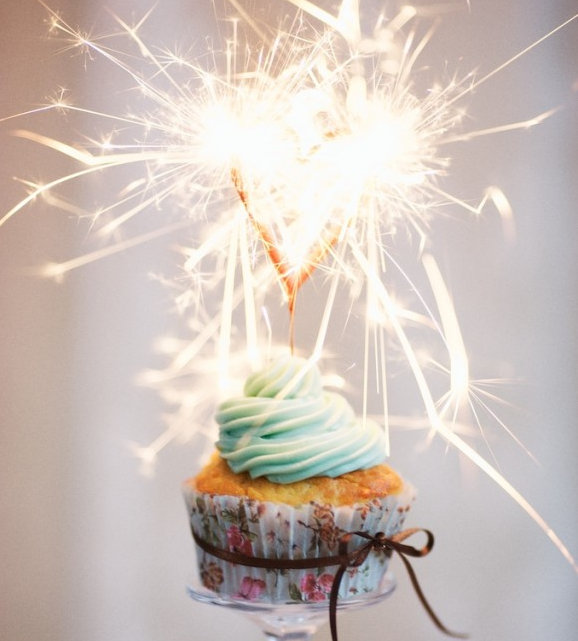 cupcake sparkler celebrate | Bridal Musings