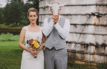 Sweet and Colourful Eco Chic Farm Wedding