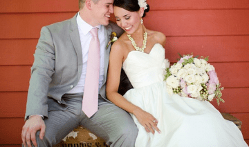 Rustic Chic Pink, Yellow & Grey DIY Wedding