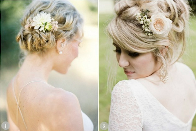 wedding hair styles flowers
