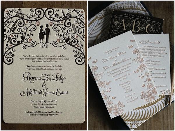 Beautiful digital wedding invitations