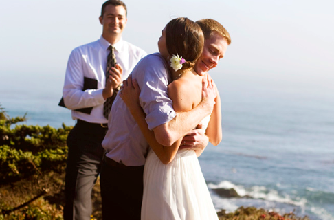 California clifftop elopement
