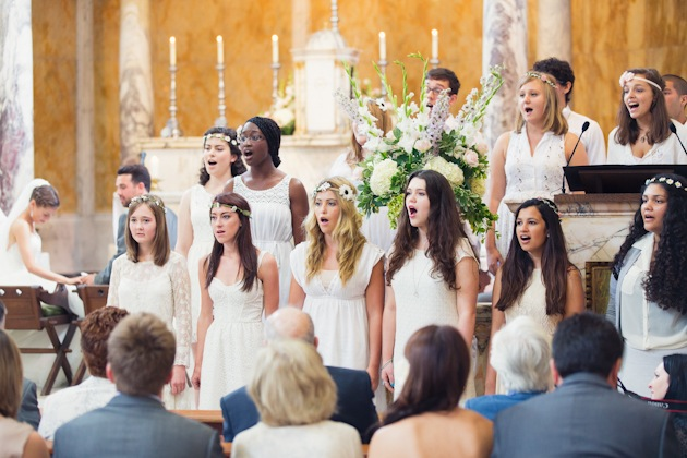 choir singing at wedding like in Love Actually