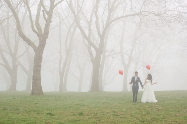 Misty Foggy London Wedding Shoot | Caro Hutchings Photography (25)