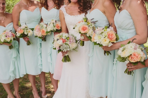 Coral Colored Flowers Wedding Rustic Mint Green And Coral Orchard Wedding Part 1 Bridal Musings