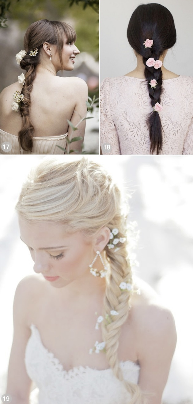 Romantic Bridal Hairstyle : Romantic wedding hairstyles using flowers