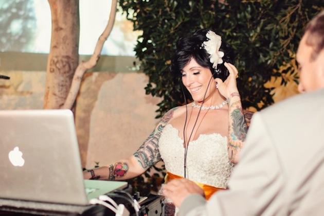 Yellow Grey And Chevron Modern Palm Springs Wedding
