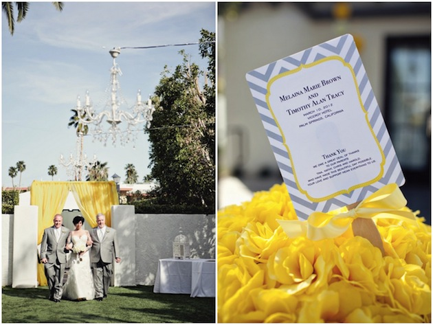 Yellow and grey wedding centerpieces modern chic yellow grey