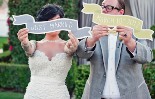 grey and yellow wedding in Palm Springs | Heatther Kincaid Photography
