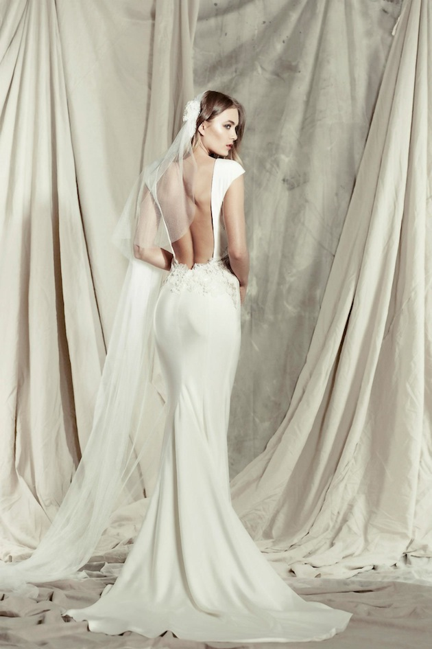 Low Back Wedding Dresses Sydney : Pallas couture s stunning destinne wedding dress collection