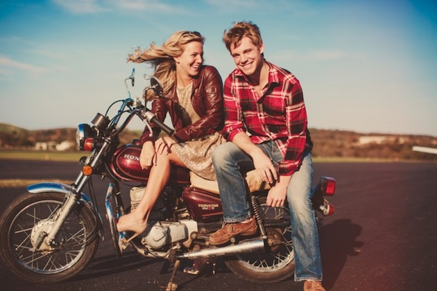 Motorbike Engagement Shoot by Lauren Fair Photography via Bridal Musings30 (18)