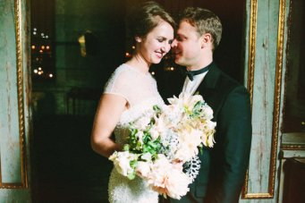Emerald & Old Gold Wedding Inspiration by Rose & Ruby Paper Co.