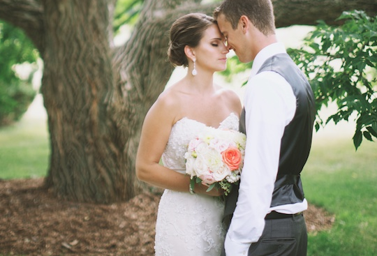 navy coral and pink garden wedding | simply jessie photography
