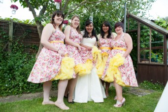 1950s Inspired Quirky and Colourful Garden Wedding