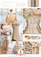 Soft Peach, Grey & Gold Wedding Inspiration